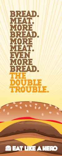 The Double Trouble only at Trouble Burger