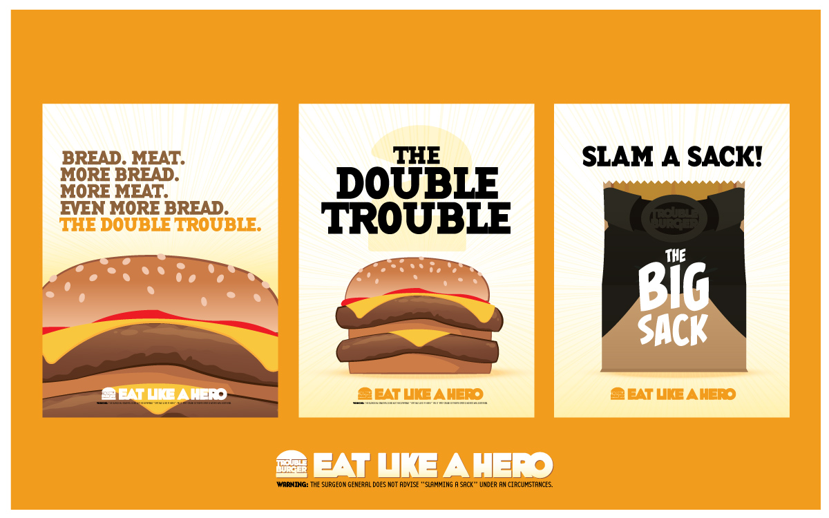 Trouble Buger Posters
